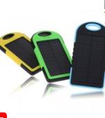 5000 mAh Dual-USB Waterproof Solar Power Bank Battery Charger
